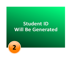 student id will be generated