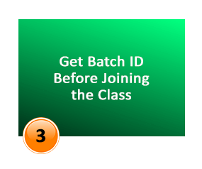 get batch id before joining the class