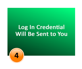 login credientials will be send to you