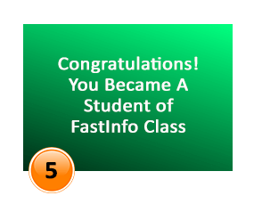 congratulations! you became a student of FastInfo Class